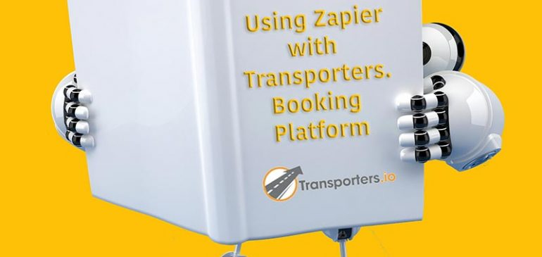 robot reading about integrating transporters with zapier