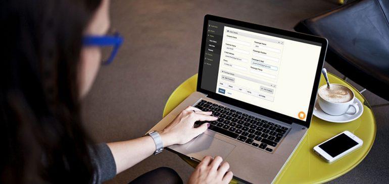 transporters system on laptop